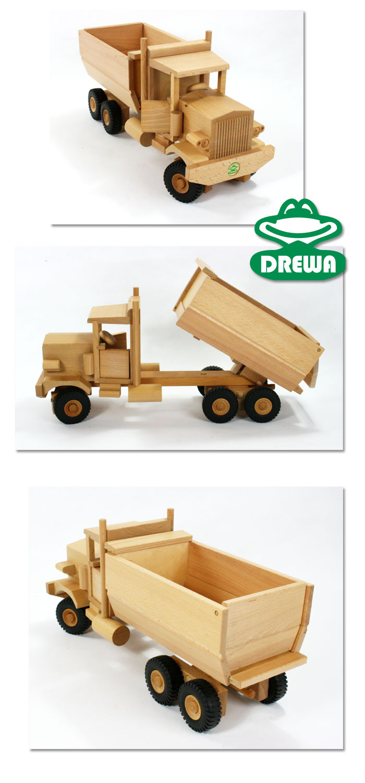 drewa fahrzeug lkw us truck aus holz 3 achs mit kipper. Black Bedroom Furniture Sets. Home Design Ideas